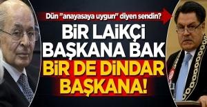 Bir laikçi başkana bak, bir de dindar başkana!
